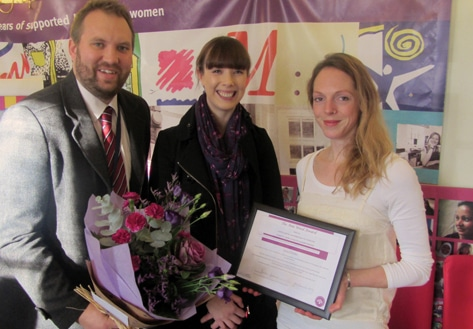 Our IRIS worker is rewarded for her outstanding contribution
