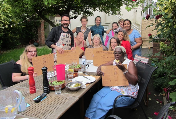 Link House enjoying a Kitchen Takeover with the fabulous 'Tales by the Oven' pop up pizza restaurant and social enterprise.